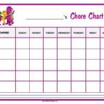 Barney Chore Chart