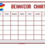 Lego Behavior Chart