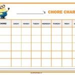 Minions Chore Chart