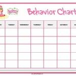 Strawberry Shortcake Behavior Chart