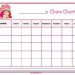 Strawberry Shortcake Chore Chart