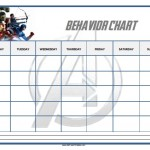Avengers Behavior Chart