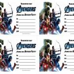 Avengers Birthday Invitations
