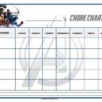 Avengers Chore Chart