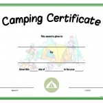 free printable camping certificate templates .