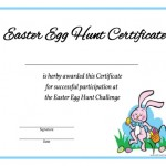 Easter Egg Hunt Certificate