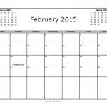 February 2015 Calendar with Holidays