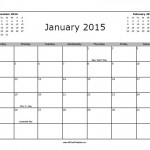 January 2015 Calendar with Holidays