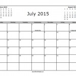 July 2015 Calendar with Holidays