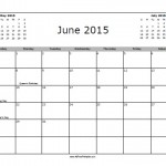 June 2015 Calendar with Holidays