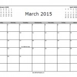 March 2015 Calendar with Holidays