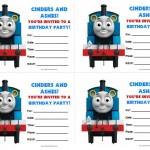 Thomas Tank Engine Birthday Invitations