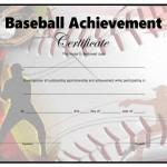Baseball Certificate