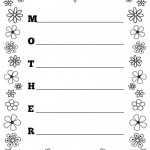 Mother Acrostic Poem Worksheet