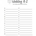 Bridal Shower Wedding A-Z Game