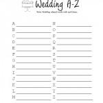 Bridal Shower Wedding A-Z Game