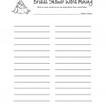 Bridal Shower Word Mining Game