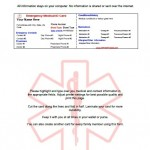 Emergency Medical ID Card