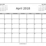 April 2018 Calendar