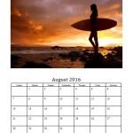 August 2016 Photo Calendar Template
