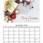 December 2016 Photo Calendar Template