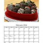 February 2016 Photo Calendar Template