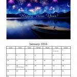 January 2016 Photo Calendar Template