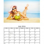 July 2016 Photo Calendar Template