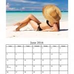 June 2016 Photo Calendar Template