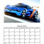 March 2016 Photo Calendar Template