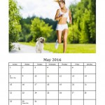 May 2016 Photo Calendar Template