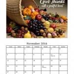 November 2016 Photo Calendar Template