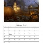 October 2016 Photo Calendar Template
