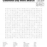 Columbus Day Word Search