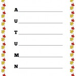 Autumn Acrostic Poem Worksheet