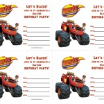 Blaze and the Monster Machines Birthday Invitations