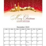 December 2015 Photo Calendar Template