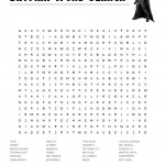 Batman Word Search