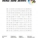 The Powerpuff Girls Word Search