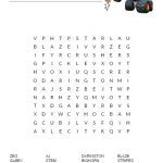 Blaze and the Monster Machines Word Search