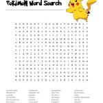 Autumn Word Search Puzzle · Pokemon Word Search