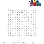 Sesame Street Word Search