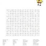 SpongeBob SquarePants Word Search