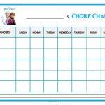Frozen Chore Chart
