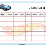 Hot Wheels Chore Chart
