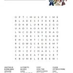 Rescue Bots Word Search