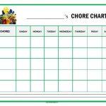 Sesame Street Chore Chart