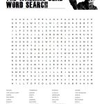The Walking Dead Word Search Puzzle