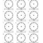 Draw the Hands on the Clock Worksheet