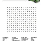 Hot Wheels Word Search